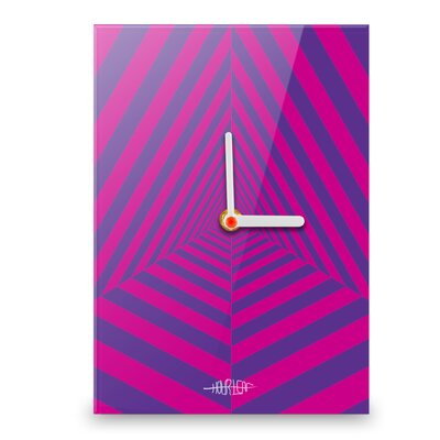 Hourleaf Pyramid Wall Clock