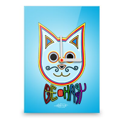Hourleaf Simon the Cat Be Happy Wall Clock