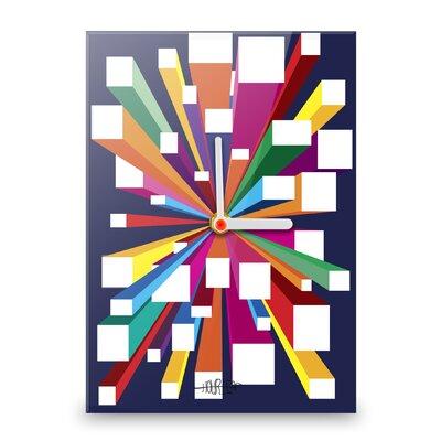 Hourleaf Burst of Colour Blocks II Wall Clock