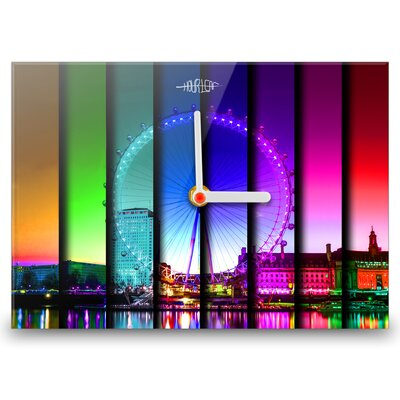 Hourleaf Colours of London Large Wall Clock