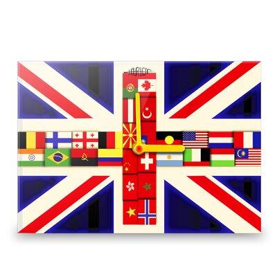 Hourleaf British International Flag Wall Clock