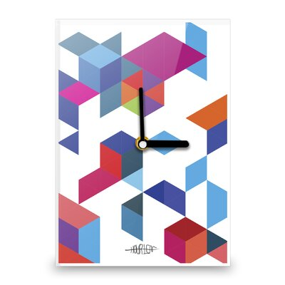 Hourleaf Boxes and Triangles Wall Clock