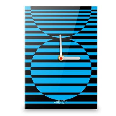 Hourleaf Circles Illusion Small Wall Clock