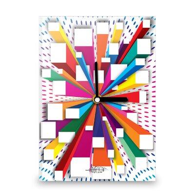 Hourleaf Burst of Colour Blocks Wall Clock