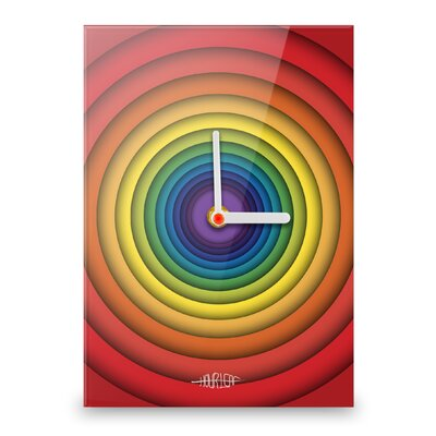 Hourleaf Rainbow Circles Wall Clock