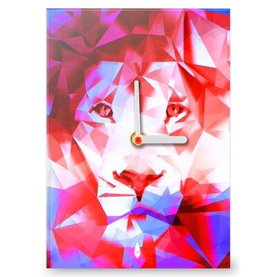Hourleaf Polygon Lion Clock
