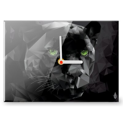 Hourleaf Polygon Panther Clock