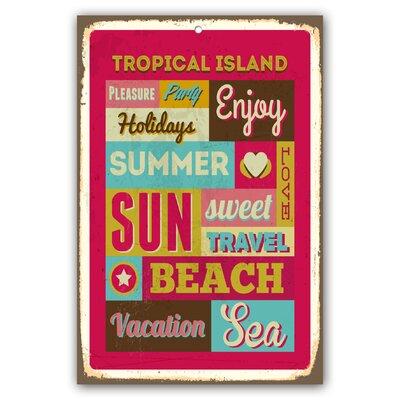 Cuadros Lifestyle Tropical Island Plaque