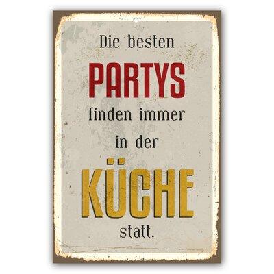 Cuadros Lifestyle Partys Typography Plaque