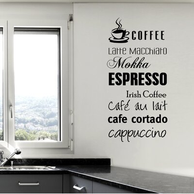 Cuadros Lifestyle Coffee - Espresso - Mocca Wall Tattoo