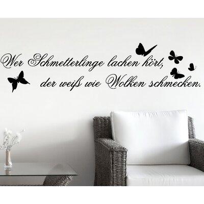 Cuadros Lifestyle Wer Schmetterlinge lachen hört, … Wall Tattoo