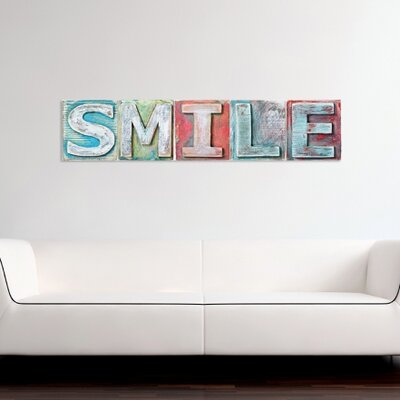 Cuadros Lifestyle Smile Lettering Wall Décor