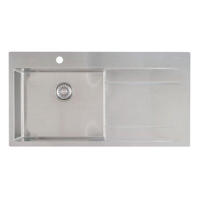 Caressi R10 Series 100cm x 52cm Single Left Kitchen Sink