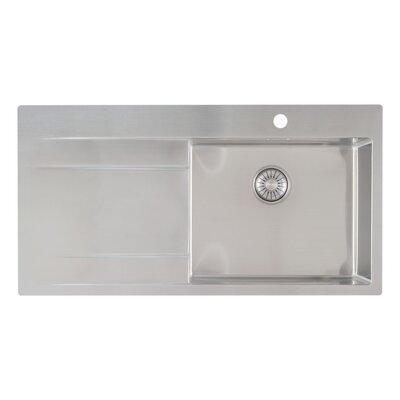 Caressi R10 Series 100cm x 52cm Single Right Kitchen Sink