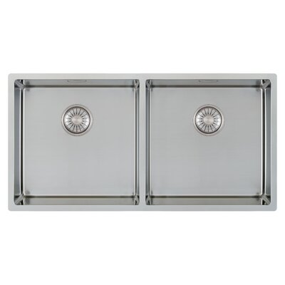 Caressi R10 Series 86cm x 44cm Double Kitchen Sink