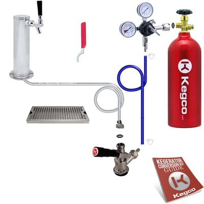 Deluxe Tower Kegerator Conversion Kit with 5 lb. CO2 Tank