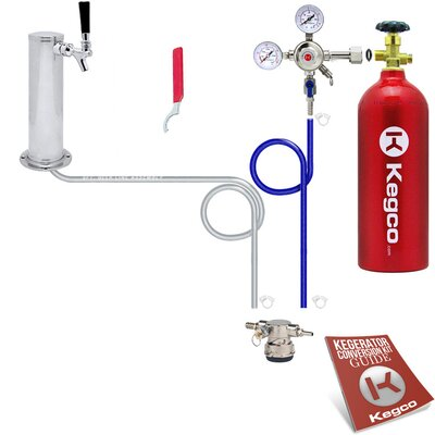 Standard Low Profile Kegerator Conversion Kit with 5 lb. CO2 Tank
