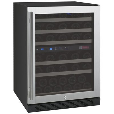 56 Bottle FlexCount Series Dual Zone Convertible Wine Cooler Hinge Location: Left Hinge