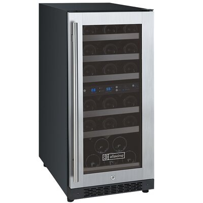 30 Bottle FlexCount Series Dual Zone Convertible Wine Cooler
