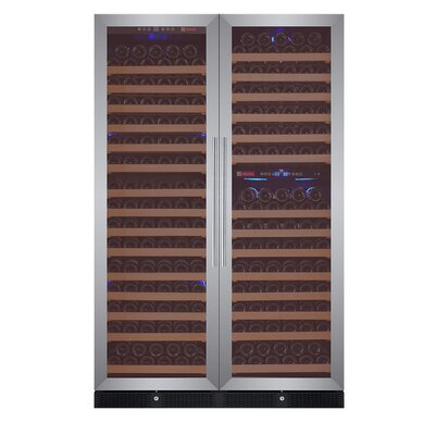 346 Bottle FlexCount Classic Series Triple zone Convertible Wine Cellar Finish: Stainless Steel