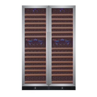 344 Bottle FlexCount Classic Series Four Zone Convertible Wine Cellar Finish: Stainless Steel