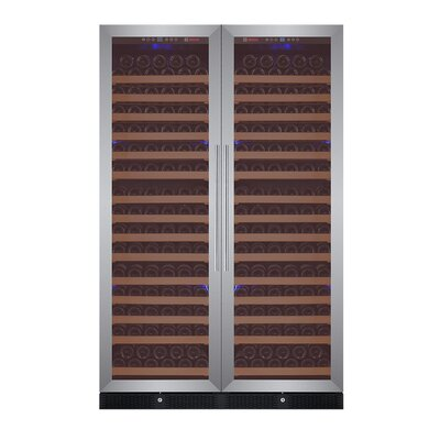 348 Bottle FlexCount Classic Series Dual Zone Convertible Wine Cellar Finish: Stainless Steel