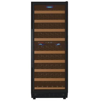 99 Bottle Vite Series Dual Zone Freestanding Wine Cooler Finish: Black