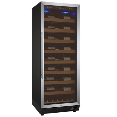 115 Bottle Vite Series Single Zone Freestanding Wine Cellar Finish: Stainless Steel
