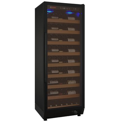 115 Bottle Vite Series Single Zone Freestanding Wine Cellar Finish: Black