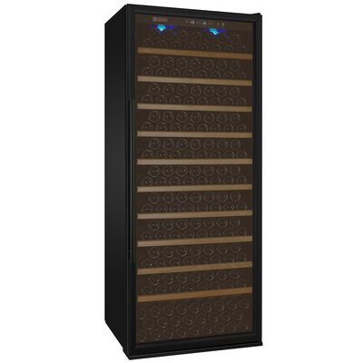 305 Bottle Vite Series Single Zone Freestanding Wine Cellar Finish: Black, Hinge Location: Right