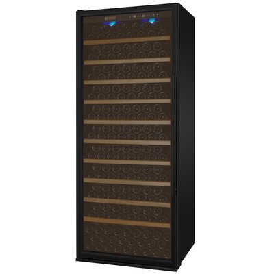 305 Bottle Vite Series Single Zone Freestanding Wine Cellar Finish: Black, Hinge Location: Left