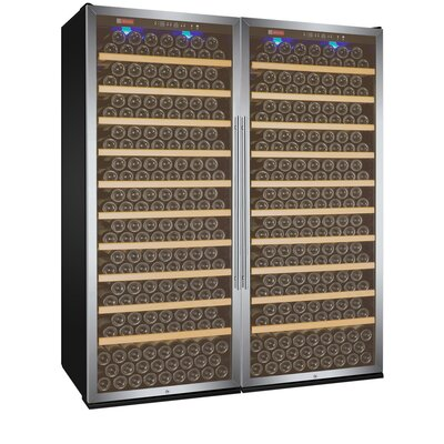 610 Bottle Vite Series Single Zone Freestanding Wine Cellar Finish: Stainless Steel