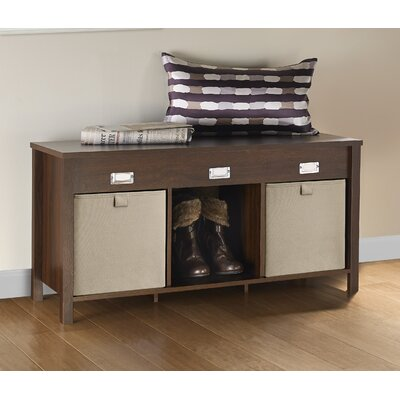 Premium Cubes Storage Bench Color: Dark Chestnut