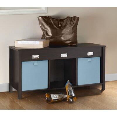 Premium Cubes Storage Bench Color: Black Walnut
