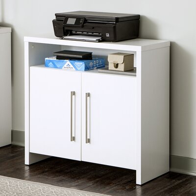 2 Door Storage Accent Cabinet Color: White