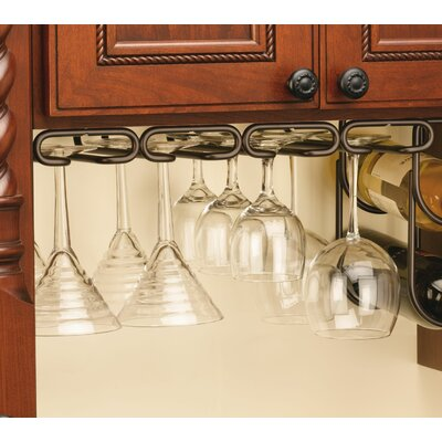 Wall Mounted Wine Glass Rack Finish: Oil Rubbed Bronze