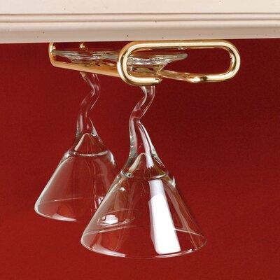 Hanging Wine Glass Rack Finish: Brass
