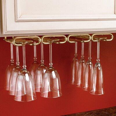 Wall Mounted Wine Glass Rack Finish: Brass