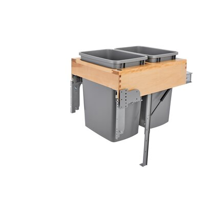 Double Top Mount 8.75 Gallon Pull Out/Under Counter Pull Out/Under Counter Trash Can