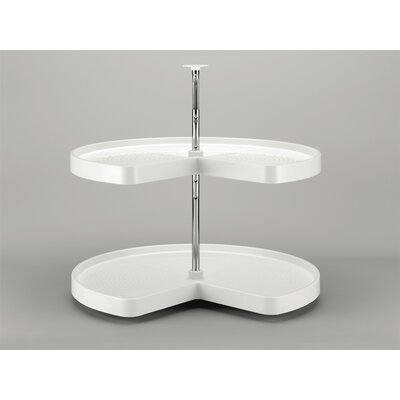 "Polymer Kidney 2 Shelf Lazy Susan Size: 31"" H x 18"" W x 18"" D, Finish: Almond"
