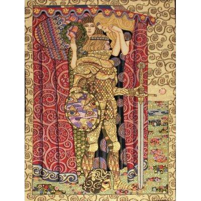 GK Art Sprl La Chevalier by Gustav Klimt Tapestry