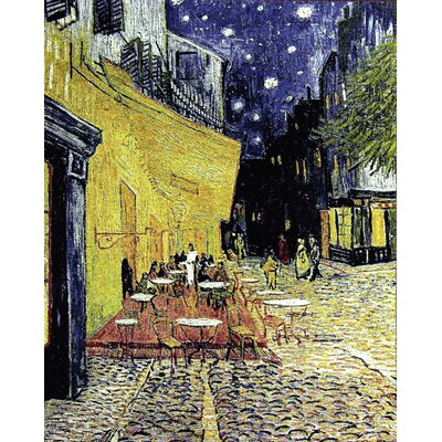 GK Art Sprl Café Terrace at Night by Van Gogh Tapestry