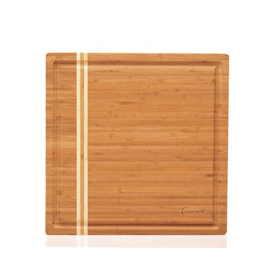 "Large Bamboo Cutting Block Size: 14"" H x 14"" W x 2.4"" D"