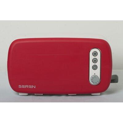 3 Slice Seren Toaster Front Panel Color: Red