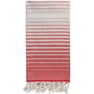 Illusion 100% Cotton Bath Towel Color: Red