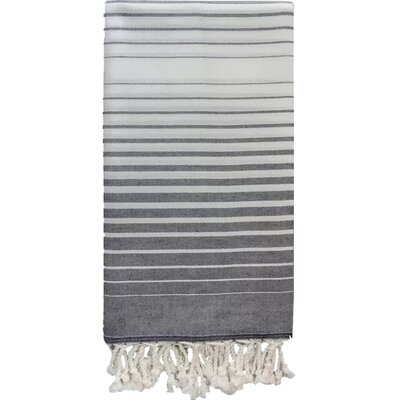 Illusion 100% Cotton Bath Towel Color: Navy