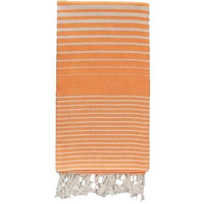 Illusion 100% Cotton Bath Towel Color: Orange