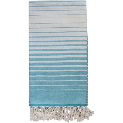 Illusion 100% Cotton Bath Towel Color: Turquoise