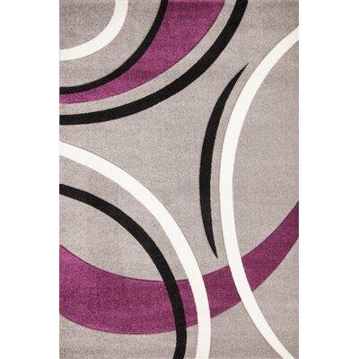 GP Rugs Havanna Silver/Purple Area Rug