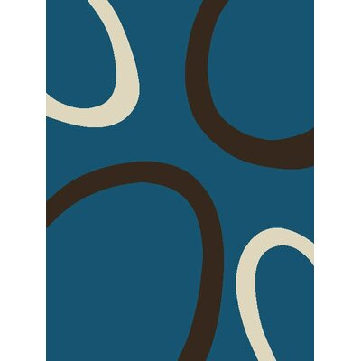 GP Rugs Contempo Turquoise/Black Area Rug